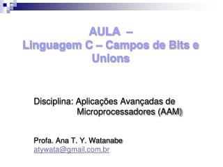 AULA  �  Linguagem C � Campos de Bits e Unions