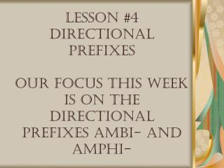"Ambi- is a Latin prefix Amphi- is a Greek prefix they both mean ""around, on both sides"""