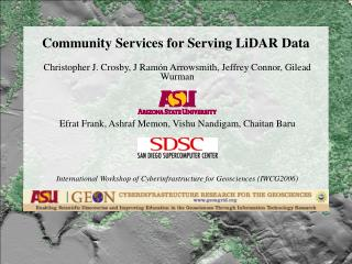 Community Services for Serving LiDAR Data