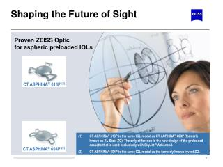 Shaping the Future of Sight
