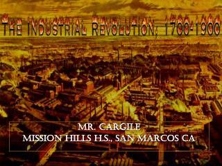 Mr. Cargile Mission Hills H.S., San Marcos CA
