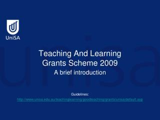 Teaching And Learning Grants Scheme 2009
