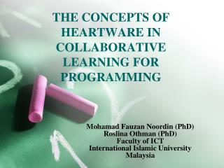 THE CONCEPTS OF HEARTWARE IN COLLABORATIVE LEARNING FOR PROGRAMMING