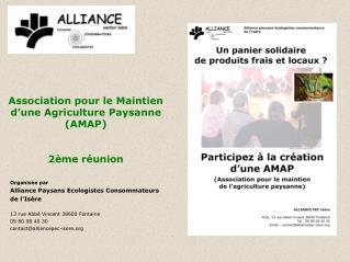 Association pour le Maintien  d'une Agriculture Paysanne  (AMAP) 2ème réunion