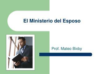 El Ministerio del Esposo
