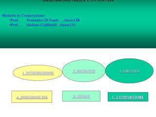 """"""" ALLARME ALTI CONSUMI """" Redatto in Cooperazione: Prof. Domenico Di Fonte __classe13B"""