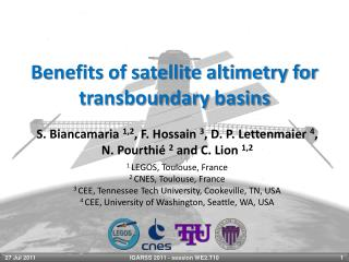 Benefits of satellite altimetry for  transboundary  basins
