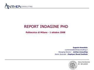 REPORT INDAGINE PHD