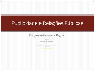 Publicidade e Relações Públicas