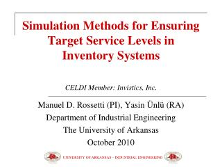 Simulation Methods for Ensuring Target Service Levels in Inventory Systems