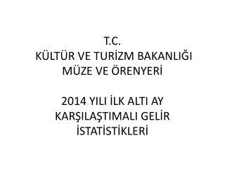 2013-2014 YILI MÜZE ÖRENYERİ GELİRLERİ İLK 6 AY KARŞILAŞTIRMA