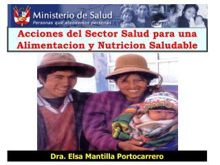 Acciones del Sector Salud para una Alimentacion y Nutricion Saludable