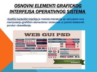 Osnovni  elementi grafickog  interfejsa  operativnog sistema