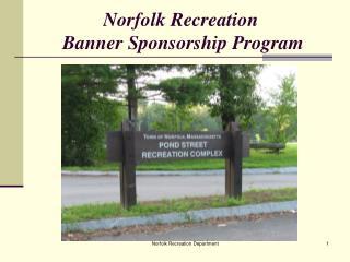 Norfolk Recreation  Banner Sponsorship Program
