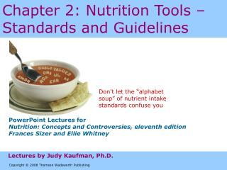 Chapter 2: Nutrition Tools – Standards and Guidelines