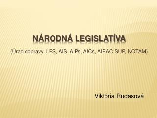 Národná legislatíva