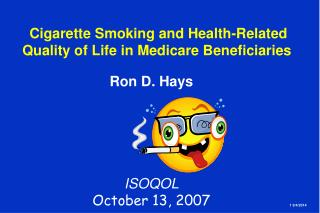 Cigarette Smoking and Health-Related  Quality of Life in Medicare Beneficiaries