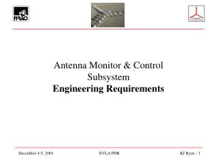 Antenna Monitor & Control Subsystem Engineering Requirements