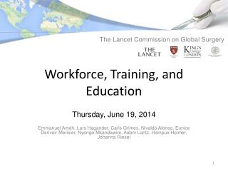 Workforce, Training, and Education