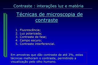 Técnicas de microscopia de contraste
