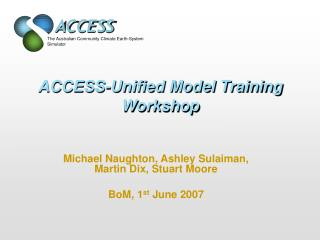 ACCESS-Unified Model Training Workshop