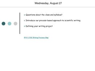 Wednesday, August 27