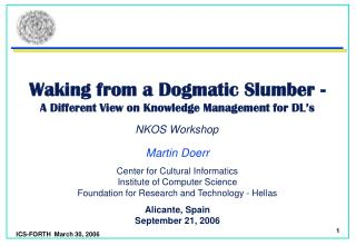Waking from a Dogmatic Slumber - A Different View on Knowledge Management for DL's