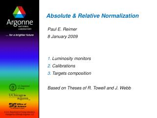 Absolute & Relative Normalization