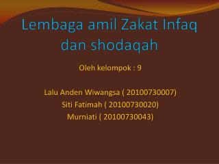 Lembaga amil Zakat Infaq dan shodaqah