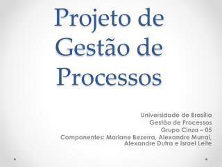Projeto de Gestão de Processos