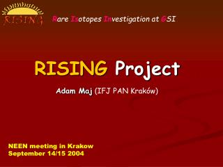 RISING  Project