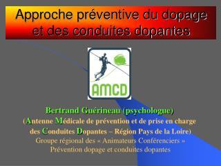 Approche pr�ventive du dopage et des conduites dopantes