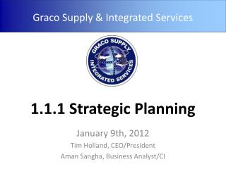 1.1.1 Strategic Planning