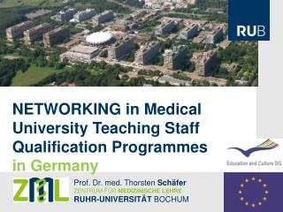NETWORKING  in Medical University Teaching Staff Qualification Programmes in Germany