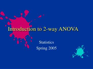 Introduction to 2-way ANOVA