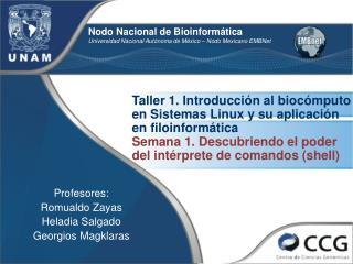 Nodo Nacional de Bioinformática Universidad Nacional Autónoma de México – Nodo Mexicano EMBNet