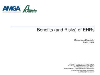 Benefits (and Risks) of EHRs