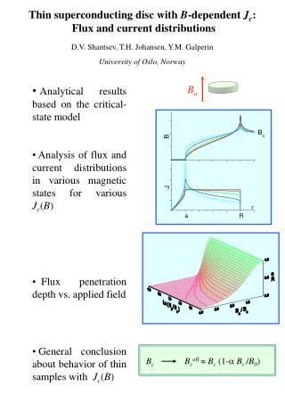 Analytical results based on the critical-state model