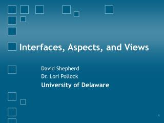 Interfaces, Aspects, and Views