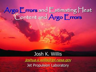 Argo Errors and Estimating Heat Content and Argo Errors
