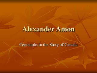 Alexander Amon