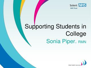 Supporting Students in College
