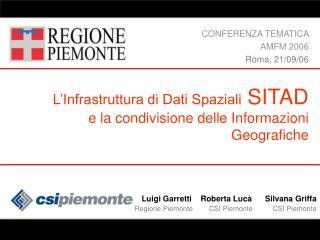 L'Infrastruttura di Dati Spaziali  SITAD e la condivisione delle Informazioni Geografiche