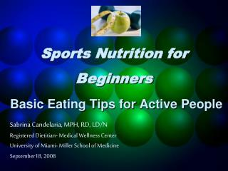 Sports Nutrition for Beginners Basic Eating Tips for Active People