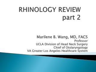 RHINOLOGY REVIEW part 2