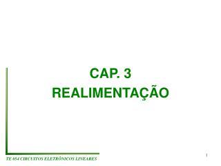 CAP. 3 REALIMENTAÇÃO