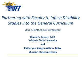 Partnering with Faculty to Infuse Disability Studies into the General Curriculum