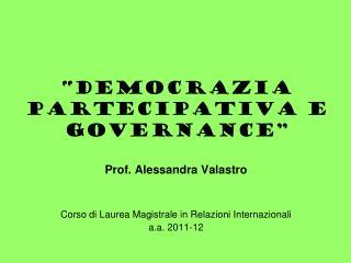 """Democrazia partecipativa e governance"""
