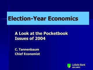 Election-Year Economics