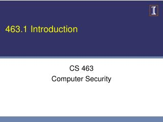 463.1 Introduction